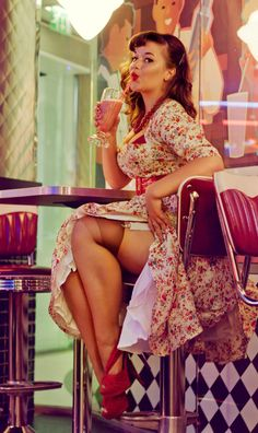 I basically need a 50's pinup girl as my wife - oh, and a milkshake would be nice too!