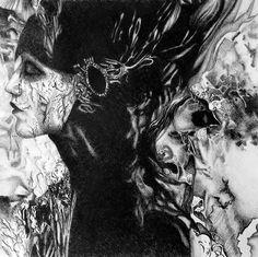 I call to the darkness, 2017, 50-50 cm, graphite crayon on paper by Oana Unciuleanu. <3 For more wonderful drawings and art novelties, visit www.oanaunciuleanu.com and subscribe to Oana Unciuleanu Art & Architecture on FB.  #art #arte #artist #artwork #blackandwhite #creative #drawing #fineart #graphic #illustration #monochrome #myart #pencil #wallart #artsy #composition #amazing #love #epic #beautiful #cool #fun #picoftheday #visualdiary #myart #masterpiece #inspiration #newartwork…