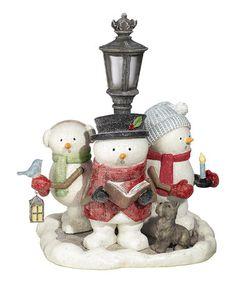 Look what I found on #zulily! Lamp Post Snowman Carolers Figurine #zulilyfinds