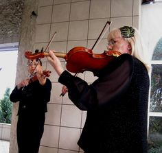 Two Violins for Wedding at Valle Vista Event Center in Greenwood, IN (Phyllis and Irina)