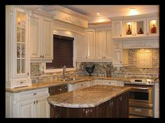 More ideas below: Modern Traditional Kitchen Design Ideas Small Traditional Kitchen Cabinets Rustic Traditional Kitchen Backsplash Remodel White Traditional Kitchen Table Decor Classic Warm Traditional Kitchen Kitchen Refacing, Metal Kitchen Cabinets, Backsplash With Dark Cabinets, Kitchen Countertops, Kitchen Backsplash, Kitchen Decor, Backsplash Ideas, White Cabinets, Kitchen Ideas