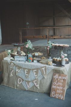 Sweets Table From Los Angeles Rustic Wedding With Amazing Details And Stunning Ideas
