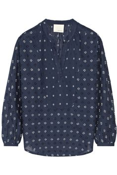 Band of Outsiders Embroidered cotton top NET-A-PORTER.COM