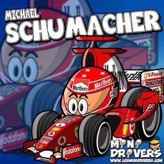 Mini Driver, Car And Driver, F1 Wallpaper Hd, Michael Schumacher, Car Posters, F 1, Formula One, Race Cars, Comic Art