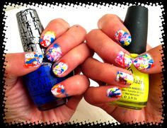 splattered nails!