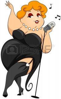 Dodu femme chantant Banque d'images