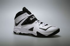 competitive price 3ddb7 5c6a3 Nike Zoom Soldier VII (7)  White Black-Metallic Silver  Lebron