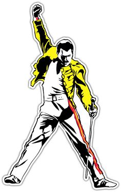 "Freddie Mercury Queen Music Vinyl Sticker Decal Can be placed on any Smooth Surface Notebook Window Car Bumper Wall Decor Size 3""x5"