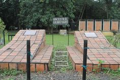 These two graves hold the remains of the first two freed slaves that were brought back to Ghana - Madam Crystal and Samuel Carson.