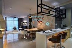Image result for tivoli design puchong ceiling rack Wall Dining Table, Stucco Walls, Interior Design Companies, Living Room Designs, Sweet Home, House Design, Bar Counter, Projector Stand, Furniture