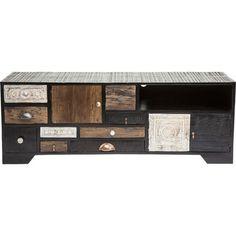 Kare Harlekin sideboard harlekin black 4 doors 2 drw kare design home
