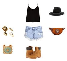 sunwaves by eftimie-gabriela on Polyvore featuring Raey, Glamorous, Timberland, Hiptipico, Ben-Amun and Sole Society