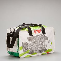 Small Feed Sack Duffel Bag in Cloud White - The Spotted Door