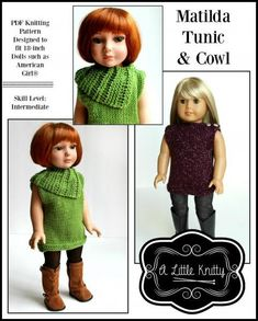 c151060b0 Matilda Tunic   Cowl Knitting Pattern. Doll Clothes ...
