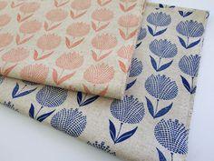 ▲綿麻 - 商品詳細 綿麻キャンバスプリント Tulip 110cm巾/生地の専門店 布もよう