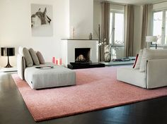 Modisch en chic is dit grote #vloerkleed in zacht #roze. #Parade #Residence #Rug #carpet #pink #fashion