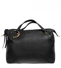 Gucci Black Leather Twill Large Bag from www.profilefashion.com Gucci Black, Baggage, Purse Wallet, Ss, Black Leather, Purses, Brown, Handbags, Brown Colors