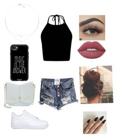 """""""Untitled #1627"""" by glamor234 on Polyvore featuring NIKE, Ted Baker, Casetify and Lime Crime"""