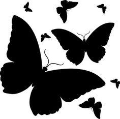 Butterflies Clipart Image Butterfly Design in Black ClipArt Best ClipArt Best Butterfly clip art Clip art Butterfly stencil