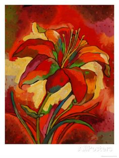 Kandinsky's Day Lily Giclee Print by John Newcomb - at AllPosters.com.au