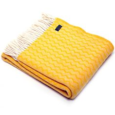 Tweedmill Pure New Wool Throw - Zig Zag Yellow Vintage Interiors, Shop Interiors, Cosy Cottage Living Room, Winter Blankets, Vibrant Colors, Colours, Velvet Cushions, Wool Blanket, Zig Zag