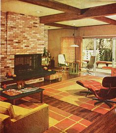 1968 living room design.