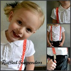 Simple Simon & Company: Ruffled Suspenders Tutorial  I'm seriously loving the tutorials they have on this site c:  This tutorial can also be used with lace to make lace suspenders, which are just as cute