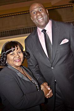 "Interviewing NBA legend Irving ""Magic"" Johnson at Metro Atlanta Urban League Annual Dinner."