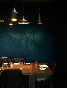 dark and lovely interior. dining.