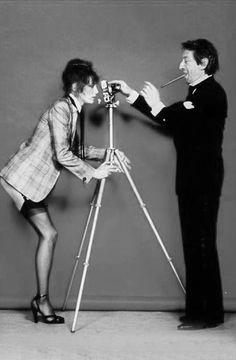 Jane Birkin y Serge Gainsbourg, por David Bailey
