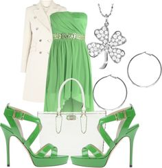 10 Fab Outfits for St. Patrick's Day, from Casual to Formal.
