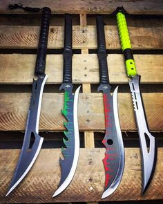 Love the one with the red on the blade