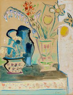 Werner Gilles (Germany 1894-1961) Blumenstillleben (1940s) watercolour on laid paper 61 x 48 cm