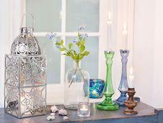 Decoration by Lisbeth Dahl Copenhagen Spring/Summer 13. #LisbethDahlCph #Candlestick #Blue #Green