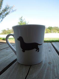 Dachshund Dog Coffee Cup. $9.00, via Etsy.
