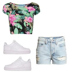 """Untitled #923"" by tanasia2266 ❤ liked on Polyvore featuring H&M and NIKE"