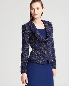 Armani Collezioni Jacket - Cobalt Jersey Boucle
