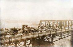 1885 Nashville, TN Woodland Street Bridge The first trip across for the city.