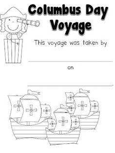 Columbus Day Voyage Booklet (free)