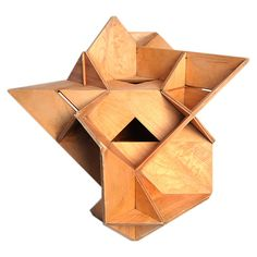 // Large Plywood Polyhedra Sculpture 1961