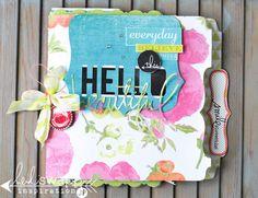Hello Beautiful Memory File by Jamie Pate on Heidi Swapp's blog.  Love your selfie series.  Heidi Swapp Dreamy Collection