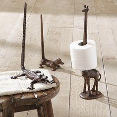 croc, dog and Giraffe Paper Holders - grandinrod