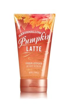 Marshmallow Pumpkin Latte - Shea & Sugar Body Scrub - Signature Collection - Bath & Body Works - Reveal your natural radiance! Our luxurious, limited edition Shea & Sugar Body Scrub is made with naturally exfoliating Sugar Crystals, nourishing Shea Butter & soothing Pumpkin Seed Oil to pamper and protect your skin. The rich, indulgent lather rinses away to reveal soft & touchable skin!