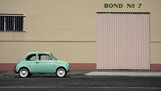 Mint Fiat 500. So cute.