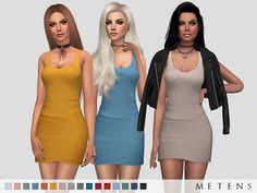 Comes in 16 colours.  Found in TSR Category 'Sims 4 Female Everyday'