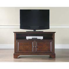Crosley Furniture LaFayette 42 Inch TV Stand in Vintage Mahogany