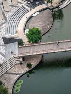 4 of 23 from gallery of Zhangjiagang Town River Reconstruction / Botao Landscape. Courtesy of Botao LandscapeImage 4 of 23 from gallery of Zhangjiagang Town River Reconstruction / Botao Landscape. Courtesy of Botao Landscape Landscape And Urbanism, Landscape Design Plans, Landscape Architecture Design, Urban Landscape, Landscape Fabric, Architecture Portfolio, Landscape Rake, Landscape Steps, Landscape Timbers