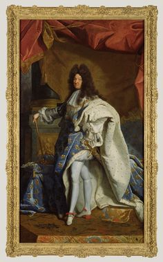 Portrait of Louis XIV; After Hyacinthe Rigaud (French, 1659 - 1743);  Oil on canvas, Gift of J. Paul Getty