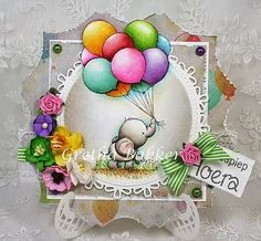 Featuring Wild Rose Studio's Bunch of Balloons SKU 432566. Available at www.addictedtorubberstamps.com Card created by Gretha Bakker.