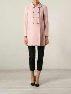 I need to win the lottery....Red Valentino Double Breasted Coat - Changing Room - Farfetch.com